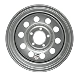 eCustomRim Trailer Wheel Rim 15x5-5 On 5 in. 5 Hole Lug Modular Silver Gray
