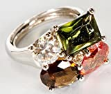 Avon Cluster Statement Ring Bold Beautiful Ring Multi Color Stones