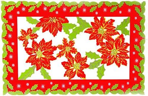 CARTEY Estera de Mesa de Navidad, Adornos navideños y decoración ...