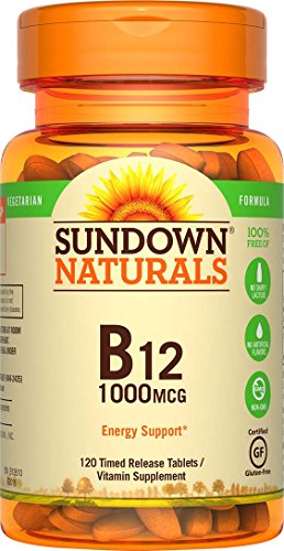 - Sundown Naturals Vitamin B-12 1000 mcg, 120 Time Release Tablets(Pack of 1)