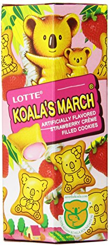 Lotte Koalas March Strawberry Cookies, 1.45-Ounce  (Pack of 12)
