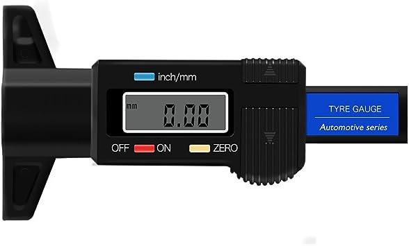Vvciic Digital Profiltiefenmesser 0 Bis 25 4 Mm Reifenprofilmessgerät Lcd Profilprüfgerät Messungprüfer Für Pkw Vans Lkw Auto