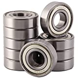 XiKe 10 Pack 6203ZZ Bearings 17x40x12mm, Stable Performance, Cost-Effective, Double Shield and Pre-Lubricated, Deep Groove Ball Bearings.
