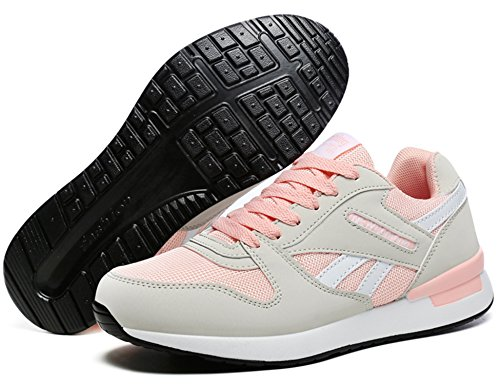 N R de Rose Gris Homme Gym Chaussure de Multisports Baskets Sport Course Running de Chaussures Dt72 Femme Sneakers Fitness Outdoor rr18dq
