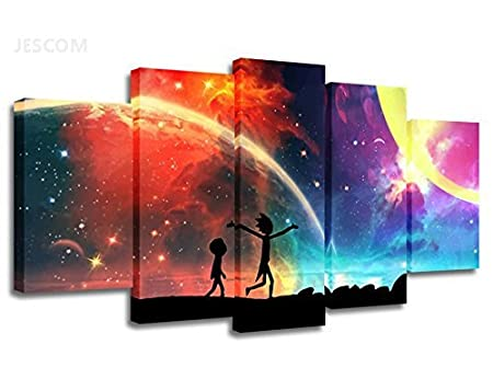 5 Panels Canvas Painting Rainbow HD Print on Canvas Wall Art Painting Modern Home Decor for Living Room Chirstmas Decor Gifts Large Size (No Frame, 40x60cmx2,40x80cmx2,40x100cmx1) JESCOM