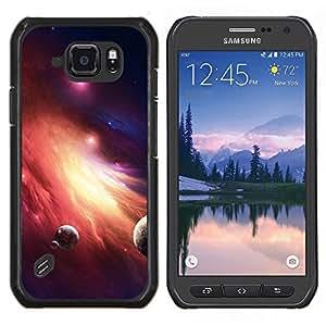 Be-Star Único Patrón Plástico Duro Fundas Cover Cubre Hard Case Cover Para Samsung Galaxy S6 active / SM-G890 (NOT S6) ( Galassia Stelle 36 )