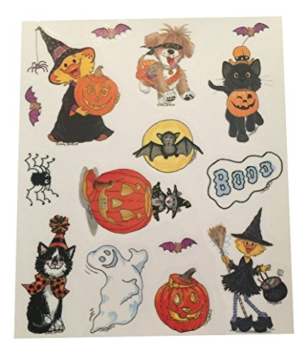 Little Suzy's Zoo Vinyl Halloween Window Cling ~ 14 Clings ()