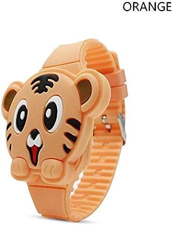 WBAE Estuche Plegable 7D Tiger Cartoon niños Reloj electrónico niños Reloj Digital Reloj de Goma Chico Estudiante: Amazon.es: Hogar