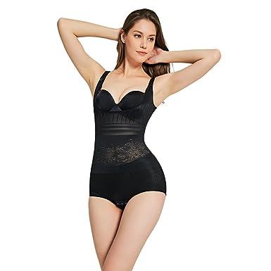 ea1fd76879 Queenral High Waist Body Shaper for Women Waist Trainer Corset for Weight  Loss Black