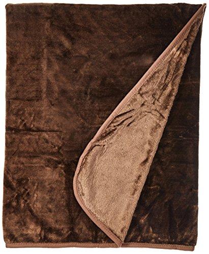 Sara Solid Mink Bed Blanket, Queen/Full, Mocha Brown