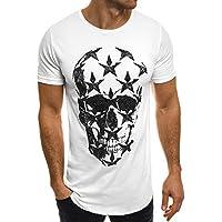 ZOMUSAR Mens t Shirts Graphic, Skull 3DPrinted T-Shirt Polo Shirts Hip Hop Tops Cool Blouse
