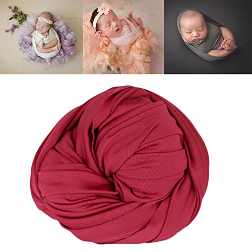 Coberllus Newborn Baby Photo Props Blanket Stretch Without Wrinkle Wrap Swaddle For Boys Girls Photography Shoot ()