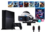 PlayStation VR Launch Bundle 9 Items:VR Launch Bundle,PlayStation 4,7VR Game Disc PSVR Rush of Blood,PSVR Valkyrie,Battlezone,Batman: Arkham VR, PSVR DriveClub,Eagle Flight,Combat League