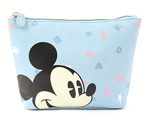- Disney Mickey Mouse Pattern Pouch with Zipper Closure (Mint)
