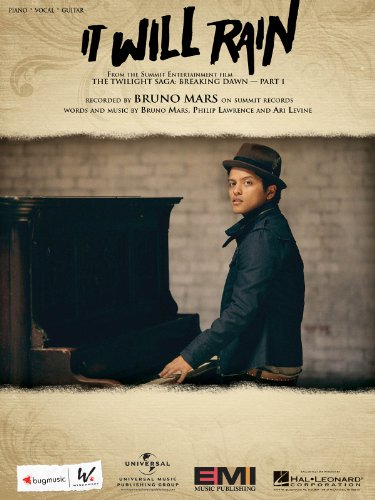 Bruno Mars - It Will Rain (Piano/Vocal) Sheet Music