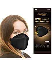 [10Pack] [Black Huegreen] - Certified KF94 Face Mask ; Premium 4Layer Filters Disposable Face Mask for Protection from Micro-fine Dust, Individual package, Large size - [Made in Korea]