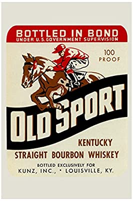 """Buyenlarge Old Sport Kentucky Straight Bourbon Whiskey Paper Poster, 18"""" x 27"""""""