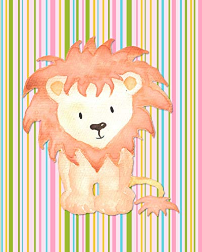 Baby Safari Animals Art Prints - Nursery Wall Decor - (Set of 6) - 8x10 - Unframed