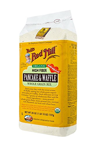 Bob's Red Mill Organic High Fiber Whole Grain Pancake & Waffle Mix, 26 Oz (Grain Whole Pancake Mix)
