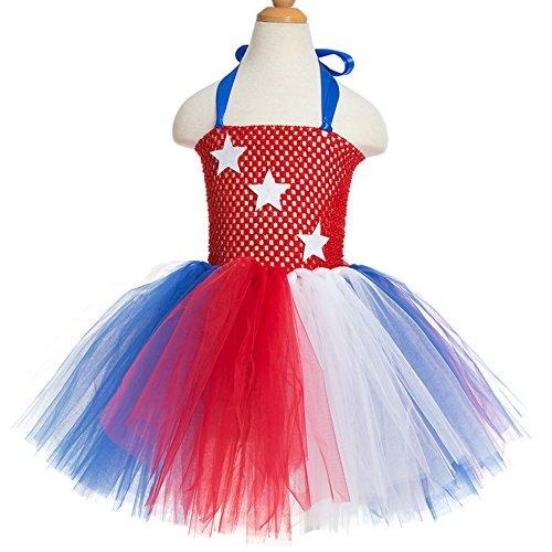 [Supergirl Flower Girl Tulle Dress Skirt Frilly Flower Dance Tutu Prom Robe Ball Gown Star] (Toddler Supergirl Tutu Set)