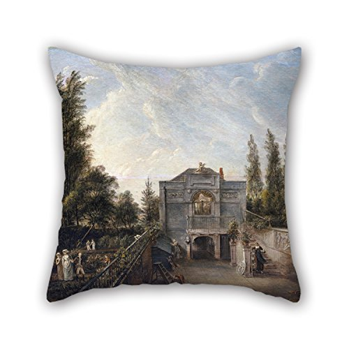 Elegancebeauty Oil Painting Paul Sandby - The Artist's Studio, Bayswater Pillow Cases 16 X 16 Inches / 40 By 40 Cm Gift Or Decor For Teens Girls,chair,bar,gril Friend,adults,sofa - Twice Sides - Artists Child Rocking Chair