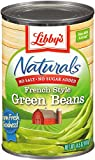 Libby's Naturals French Sytle Green Beans, 14.5 Oz. Cans (Pack of 12)
