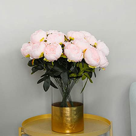 Topmountain Flores De Seda De Peonía Artificial Ramo Diy