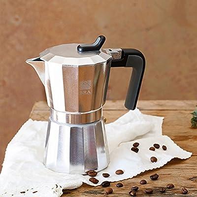 BRA Cafetera, Acero, Plata, 3 Tazas: Amazon.es: Hogar