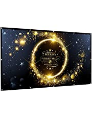 Rhungift 120 inch Projector Screen 16:9 HD Outdoor Portable Foldable Anti-Crease Projection Screen Support Double Sided Projection Movies Screen