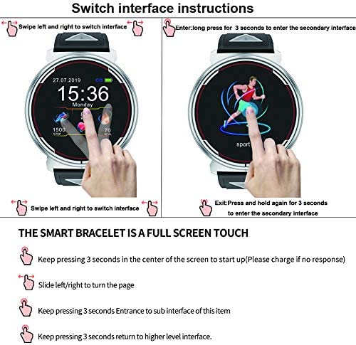 Smart Watch for iOS Android Phones, AIVEILE 2020 Version Activity Fitness Tracker Bluetooth Bracelet Waterproof Smartwatch with Blood Pressure Monitor Compatible Samsung iPhone for Men Women Kids 3