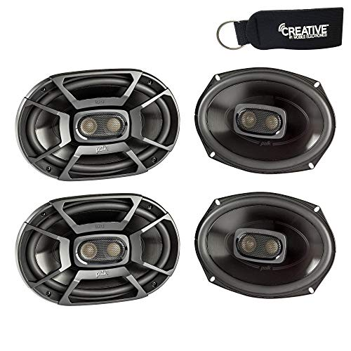 Polk Audio - Two Pairs of DB692 6x9 Coaxial Speakers - Marine and Powersports Certification (Polk Audio Car Speakers 6 X 9)