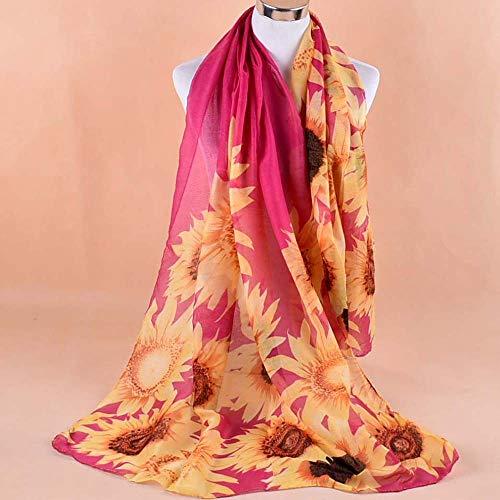 90cm Gaies Foulard Rose Hot Foulards Mince En Vogue Couleurs Écharpe X Femme Imprimé Tournesol Hiver 160cm Soie Laine Angelof Long wRHUW