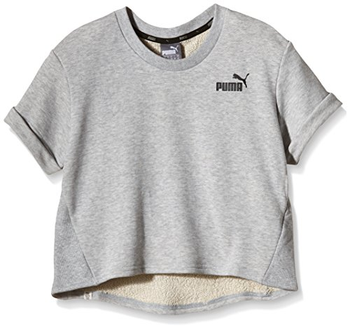 Puma Top Style Personal Best Crop Crew W gris