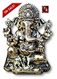 """RK Collections 6.25"""" Lord Ganesh/Ganesha Statue Sculpted in Great Detail and Hand Painted in Antique Bronze Finish – Ganesh Idol for Car/Home Decor/Mandir/Gift. (Antique Bronze Finish)"""