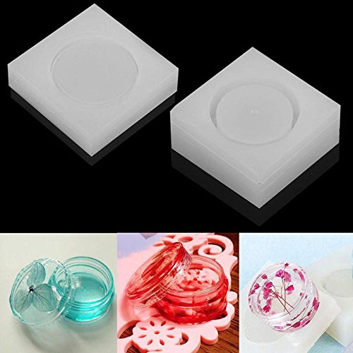 Niome Silicon Resin Casting Storage Box Mold Jewelry Mould DIY Craft Making 2PCS
