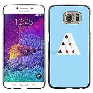 Caucho caso de Shell duro de la cubierta de accesorios de protección BY RAYDREAMMM - Samsung Galaxy S6 - MINIMALISTA TARJETA DE CASA
