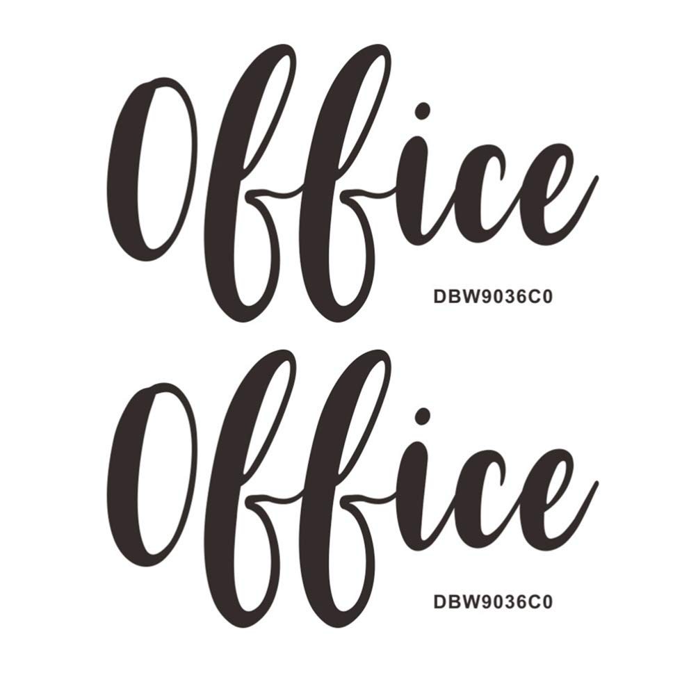 BESPORTBLE Office Sign Sticker Self Adhesive Logo Sign for Official Door Wall Sticker 2 Sheets