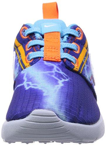 Nike Roshe One Print (TDV) Zapatillas, Bebé-niños Azul / Blanco / Amarillo (Dp Ryl Bl / White-Unvrsty Gld-El)