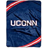 NCAA Connecticut Huskies Force Royal Plush Raschel Throw Blanket, 60x80-Inch