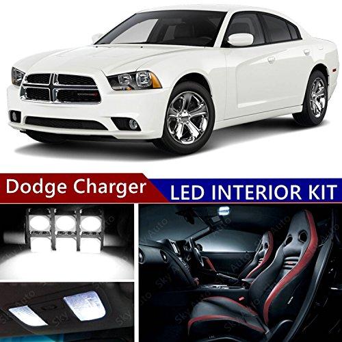 Dodge Charger 2006-2016 LED Premium Xenon White Light Interior Package Kit ( 19 pcs (Xenon Dodge Charger)