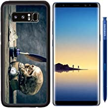 MSD Premium Samsung Galaxy Note8 Aluminum Backplate Bumper Snap Case IMAGE 26873595 Still life with human skull vintage antique pocket watch map and grunge book