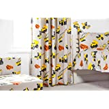 Ready Steady Bed® Bagger Design Kinder 167,6x 182,9cm Vorhang Paar mit Raffhalter