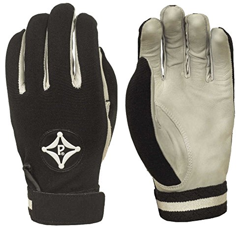 Black Adult Large Football Receivers & Backs Gloves ()