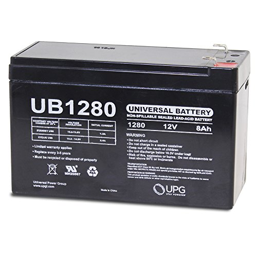 UB1280 12V 8AH SLA BATTERY REPLACEMENT FOR APC UPS - RBC12 BATTERY (Replacement Rbc12)