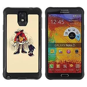 Suave TPU Caso Carcasa de Caucho Funda para Samsung Note 3 / Funny Hedgehog Robotni / STRONG