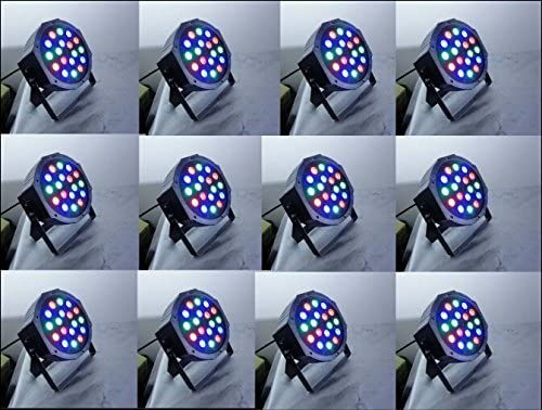 XingChen 12pcs//lot Dj Led Slim Par Can Light 18x1watt Led Par Light for Christmas//Wedding