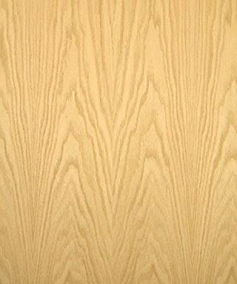 "Red Oak Wood Veneer, Flat Cut, Premium Grade, 24""x32"" PSA Adhesive Back"