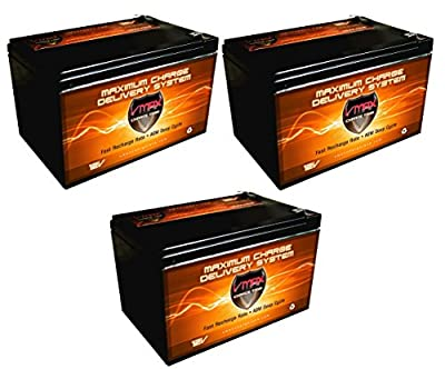 Best Cheap Deal for QTY 3 VMAX64 12V 15Ah AGM Deep Cycle top quality Battery for Razor MX500 MX650 from VMAX USA - Free 2 Day Shipping Available