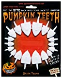 Halloween Pumpkin Carving Kit - Pumpkin Teeth for your Jack O' Lantern - Set of 18 White Shark Teeth