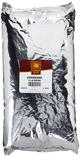 Copper Moon Whole Bean Coffee Espresso 5 Pound Whole Bean Dark Roast Small Batch Coffee Heavy Crema Notes of Chocolate Sweet Floral Presence 100% Arabica ()